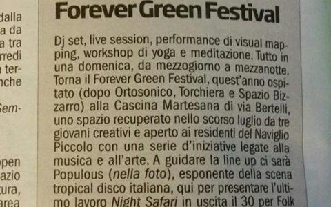 Forevergreen festival su la Repubblica